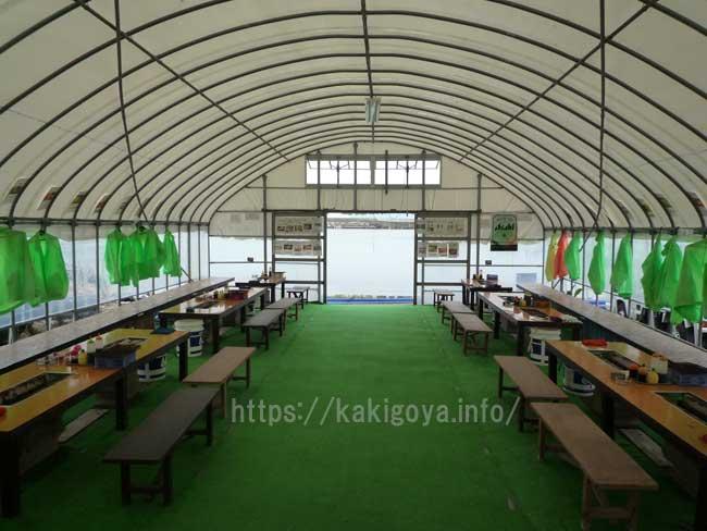 梅本のカキ(白山丸) 福吉漁港の牡蠣小屋
